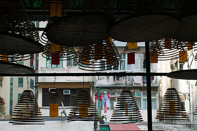 Large Incense Coils Hanging In Pak Sing Print by Panoramic Images
