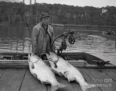 Photograph - Large King Salmon Moss Landing Monterey California  Circa 1955 by California Views Archives Mr Pat Hathaway Archives