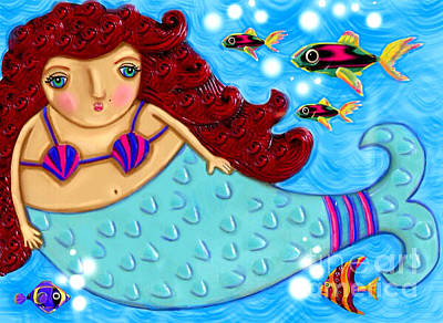 Painting - Large Mermaid Diva by Cynthia Snyder