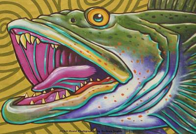 Bass Digital Art - Large Mouth Fish by Unknown
