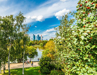 Large Novodevichy Pond Of Moscow - 3 Art Print by Alexander Senin