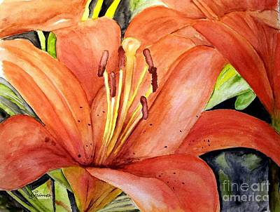 Large Orange Lily Art Print by Carol Grimes