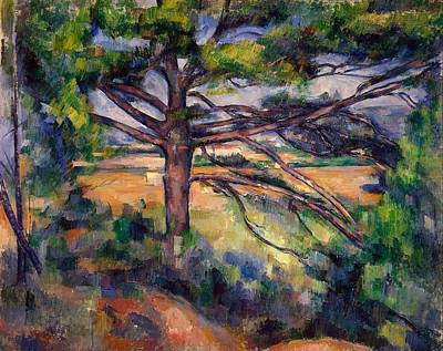 The Hermitage Painting - Large Pine And Red Earth by Paul Cezanne