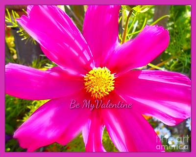 Photograph - Large Pink Flower Valentine by Joan-Violet Stretch