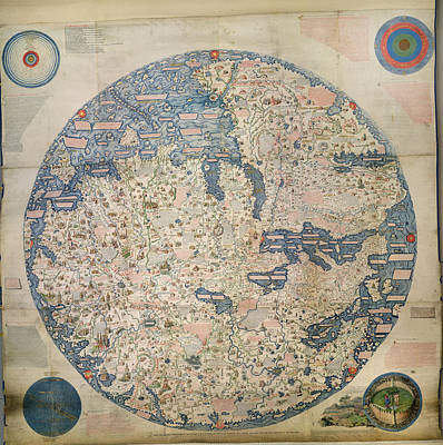 Large Planisphere Art Print by British Library
