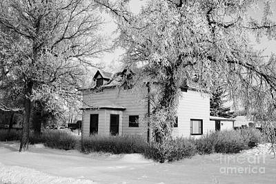 large residential traditional house in rural village Forget Saskatchewan Canada Art Print by Joe Fox