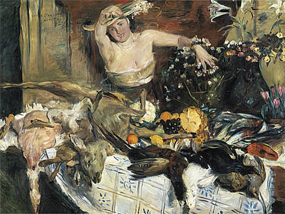 Painting - Large Still Life With Figure  by Lovis corinth