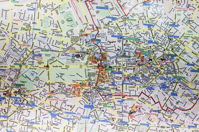 Large Street Map And Infopunkt Art Print