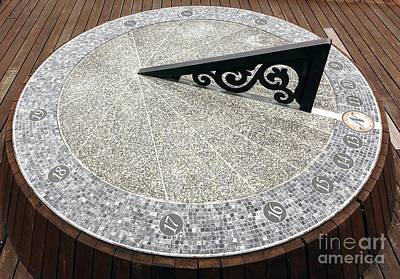 Photograph - Large Sundial Made From Stone by Yali Shi