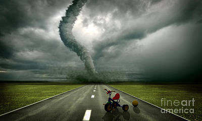 Large Tornado Art Print by Boon Mee