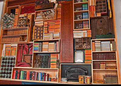 Photograph - Large Vintage Bookcase by Valerie Garner