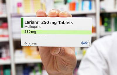 Pill Box Photograph - Lariam Antimalarial Pills by Mark Thomas