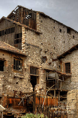 Photograph - Larissa Greece Factory Ruin 1 by Deborah Smolinske
