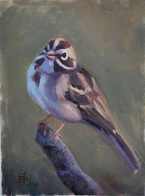 Larks Painting - Lark Sparrow by Billie Colson