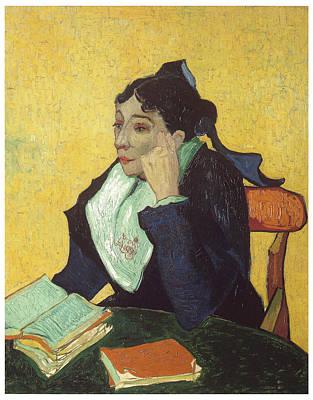 L'arlesienne With Books Art Print by Vincent Van Gogh