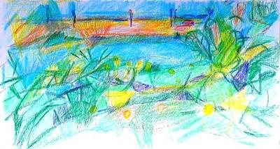 Painting - Larnaca Marina Cyprus by Anita Dale Livaditis