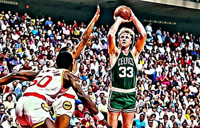 Larry Bird Art Print by Florian Rodarte