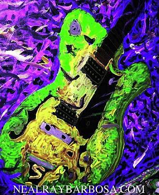 Painting - Larry Carlton by Neal Barbosa
