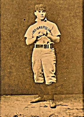 Baseball Painting - Larry Corcoran by Florian Rodarte