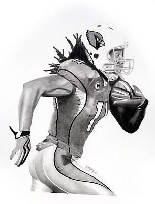 Larry Fitzgerald Fitz Art Print by Devin Millington