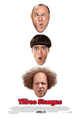 Damsel In Distress Digital Art - Larry Moe And Curly by The Three Stooges Movie