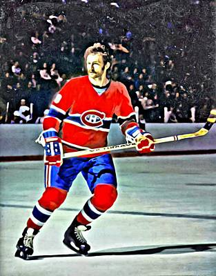 Montreal Hockey Painting - Larry Robinson by Florian Rodarte