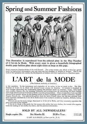 Photograph - L'art De La Mode Advertisement April 1908 by Phil Cardamone