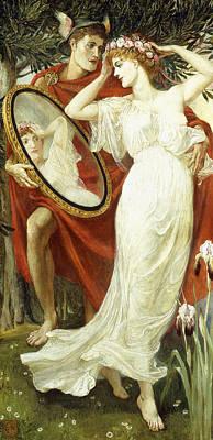Showing Painting - L'art Et La Vie by Walter Crane