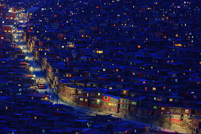 Rooftops Photograph - Larung Gar by Hesham Alhumaid