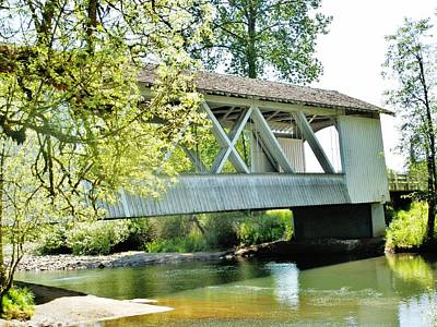Photograph - Larwood Covered Bridge by VLee Watson