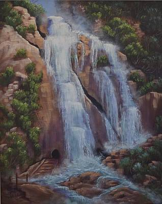 Painting - Las Brisas Falls Huatuco Mexico by Cindy Welsh