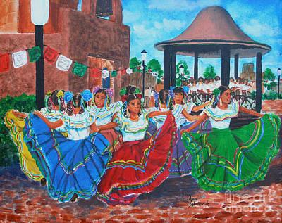 Las Fiestas Print by Ann Sokolovich