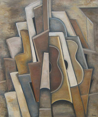 Las Guitarras Art Print by Trish Toro