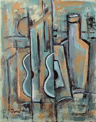 Painting - Las Guitarras Turquesas by Trish Toro