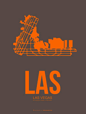 Digital Art - Las Las Vegas Airport Poster 1 by Naxart Studio