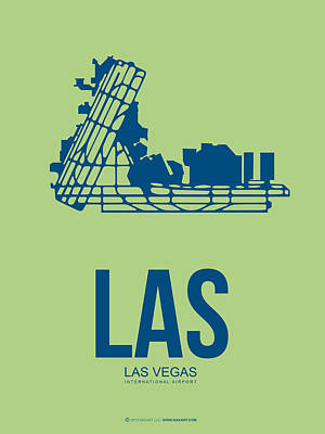 Travel Digital Art - Las Las Vegas Airport Poster 2 by Naxart Studio