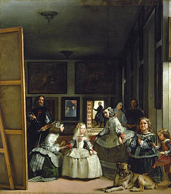 Self Portrait Painting - Las Meninas Or The Family Of Philip Iv, C.1656  by Diego Rodriguez de Silva y Velazquez