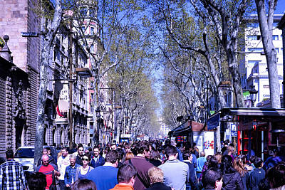 Las Ramblas - Barcelona Spain Art Print