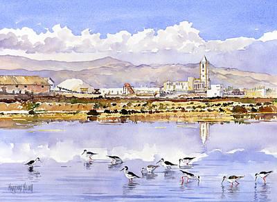 Salt Flats Painting - Las Salinas De Cabo De Gata by Margaret Merry