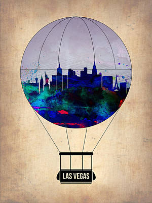 Las Vegas Air Balloon Art Print by Naxart Studio