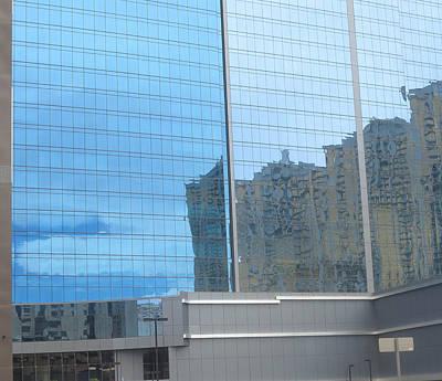 Photograph - Las Vegas Archicture Reflections On Glass Windows by Navin Joshi