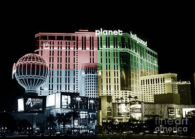 Photograph - Las Vegas At Night Fusion by John Rizzuto