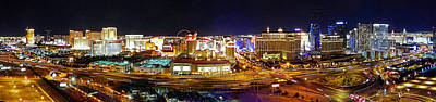 Photograph - Las Vegas At Night - Panorama by Sheila Kay McIntyre
