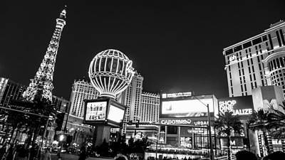 Digital Art - Las Vegas At Nights by Susan Stone