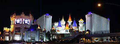 Lighted Photograph - Las Vegas - Excalibur Casino - 01131 by DC Photographer