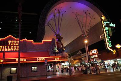 Las Vegas - Fremont Street Experience - 121222 Art Print by DC Photographer