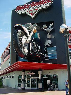 Photograph - Las Vegas Harley Davidson Cafe by Mieczyslaw Rudek