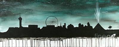 City Scape Painting - Las Vegas by Katy  Scott