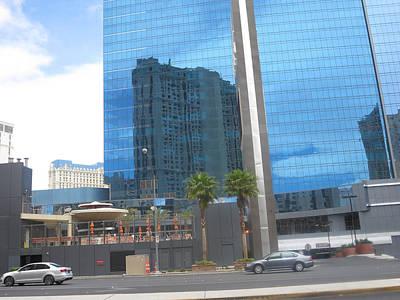 Photograph - Las Vegas Landscape Overpowering Building by Navin Joshi