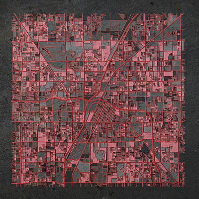 Antique Map Digital Art - Las Vegas Map Antique by Bekim Art